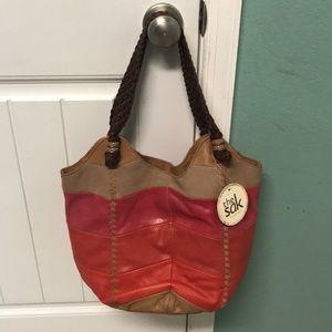 The Sak Leather Indio Chevron Hobo bag